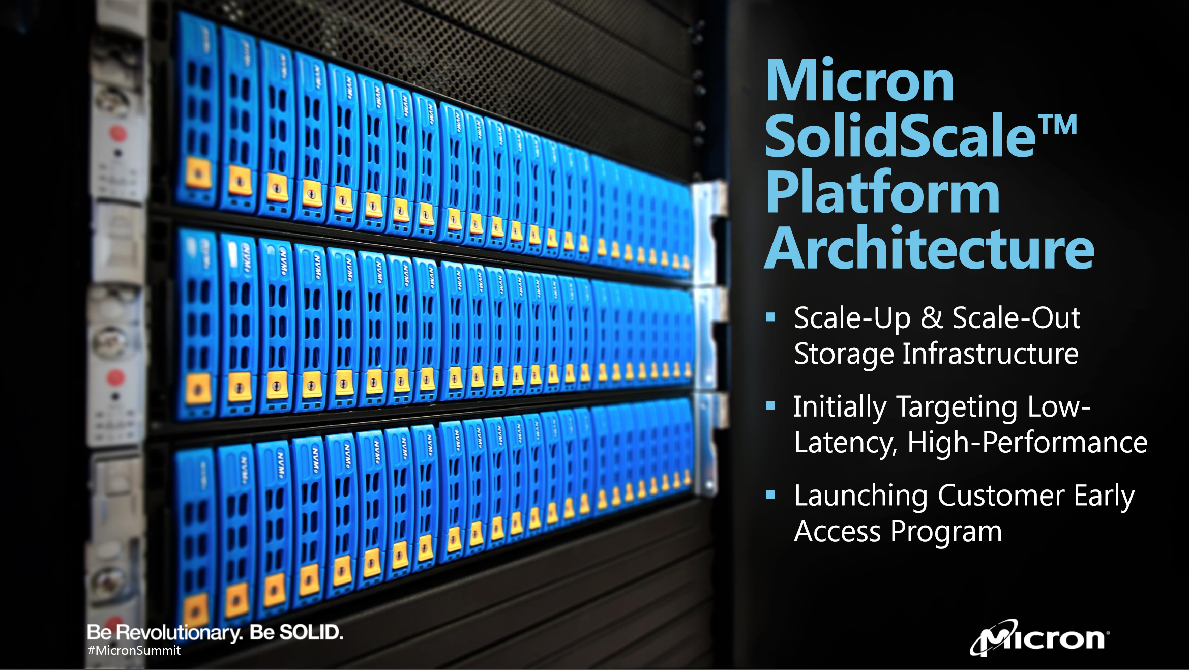 Micron Announces SolidScale™ featuring Excelero's NVMesh
