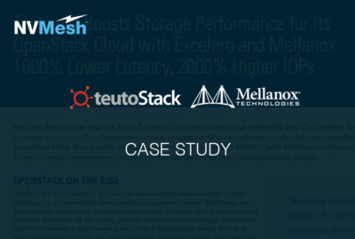 teuto.net Boosts Storage Performance for its OpenStack Cloud with Excelero and Mellanox