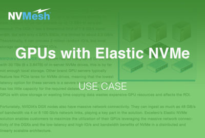 Powering GPUs with Elastic NVMe Storage for better training performance