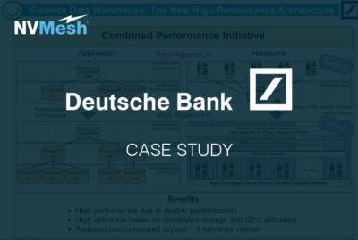 Accelerating data analytics workloads for Deutsche Bank