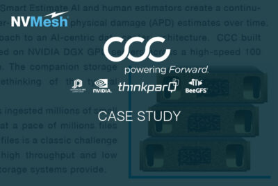 CCC  Builds a Superior AI Infrastructure With Excelero's NVMesh Storage Software