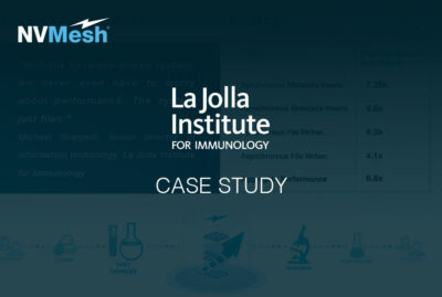 La Jolla Institute for Immunology Optimizes COVID-19 Research with Excelero