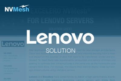 Excelero NVMesh for Lenovo Servers